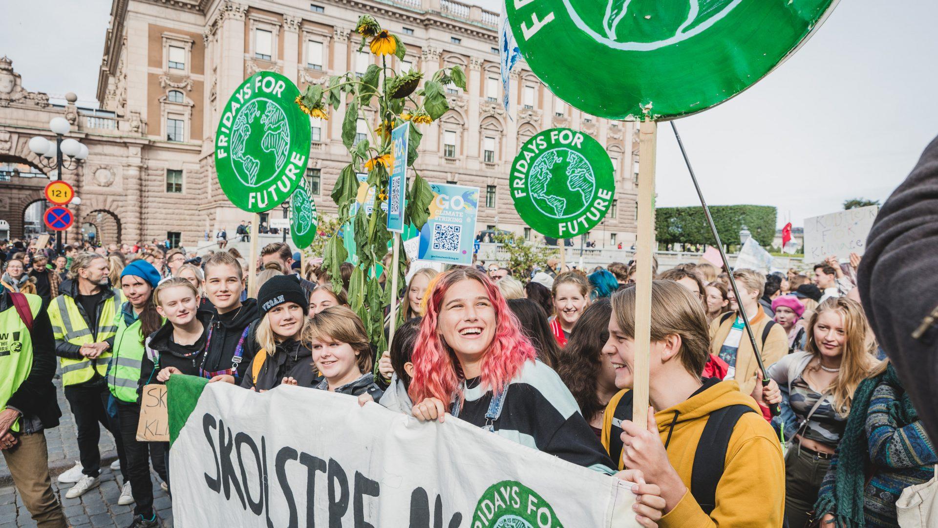 Global climate strike / demonstration Stockholm Sweden. 2019-09-20