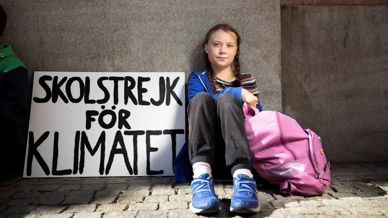 Greta Thunberg demanding this crisis is treated as a crisis, school striking until Sweden is in line with the Paris agreement