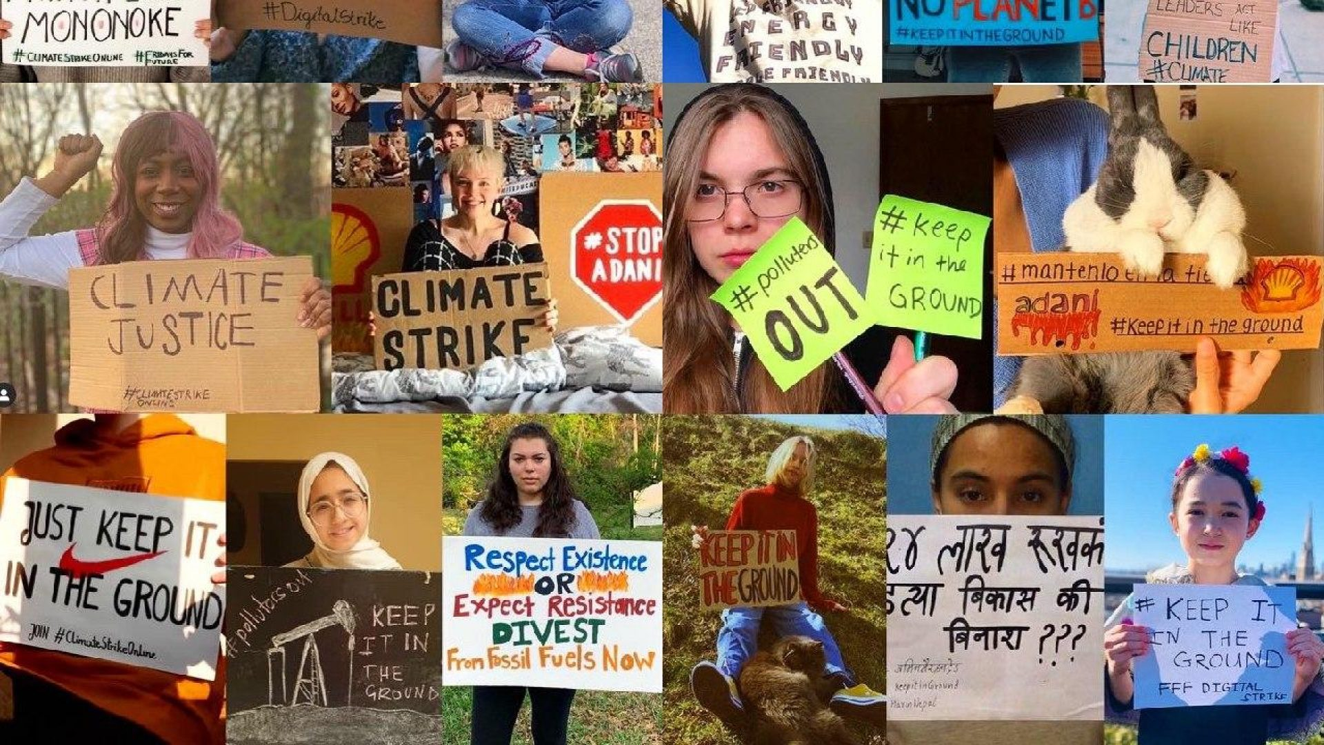 Collage of activists from April 19th, 2020